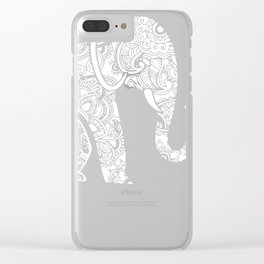 Left Side Elephant Clear iPhone Case
