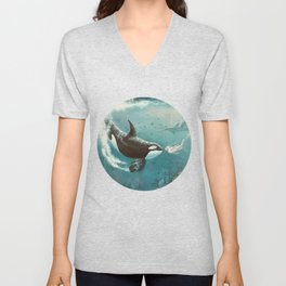 Underwater Love at First Sight Unisex V-Neck
