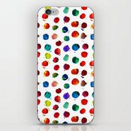 Abstract watercolor circles iPhone Skin
