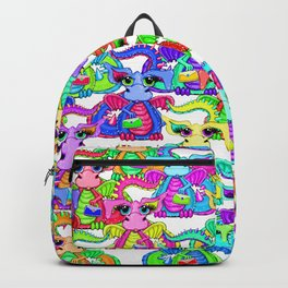 Colourful Cartoon Dragon Ladies With Handbags Backpack