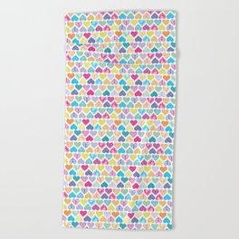 Rainbow Wild Hearts Beach Towel