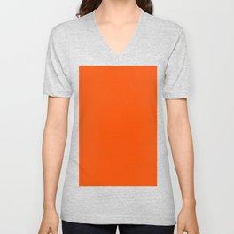 Tangelo Orange Unisex V-Neck