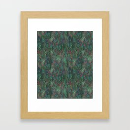 After Anawhata Jungle  Pattern Framed Art Print