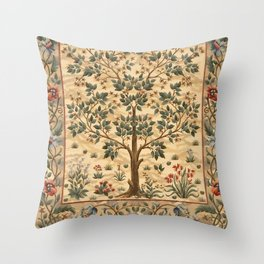 "William Morris ""Tree of life"" 3. Throw Pillow"