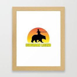 Suburban Legend Sunset Framed Art Print