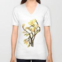 magnolia V-neck T-shirts featuring Magnolia by Lara Paulussen