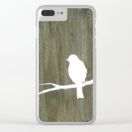Wooden bird 2 Clear iPhone Case