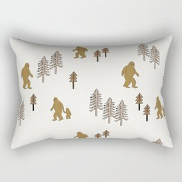 Sasquatch forest woodland mythic animal nature pattern cute kids design forest Rectangular Pillow