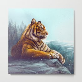 Tiger force Metal Print