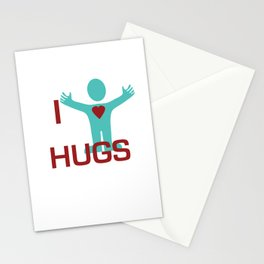 I heart Hugs Stationery Cards