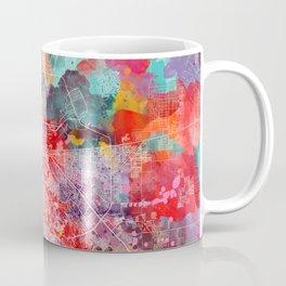 El Paso map Texas painting 2 Coffee Mug