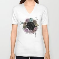 carpe diem V-neck T-shirts featuring Carpe Diem by Biljana Kroll