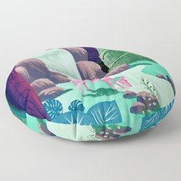 The Whispering Waters of Eventide Vale Floor Pillow