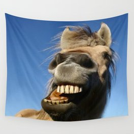 Happy Horse Photography Print Wall Tapestry