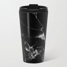Black Marble I Metal Travel Mug