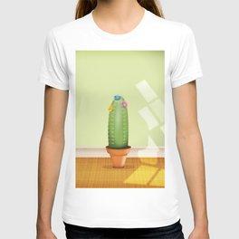 Cactus plant flowering. T-shirt