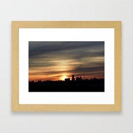 Sunset Toronto Framed Art Print