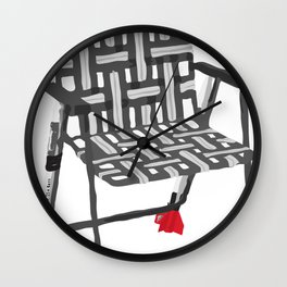 rocket launcher (rocket lawnchair). Wall Clock