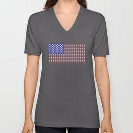 American Flag | Funny Gambling Gift Unisex V-Neck