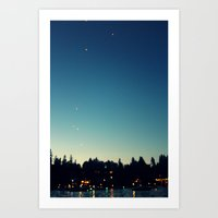 lanterns Art Prints featuring Lanterns by Stolen Milk