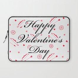Happy Valentine's Day: Cupid's Arrow Laptop Sleeve