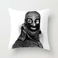 wrestling Throw Pillows featuring Wrestling mask 3 by DIVIDUS