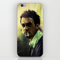 smoking iPhone & iPod Skins featuring Smoking by Marc Hampson