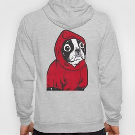 Red Hoodie Boston Terrier Hoody