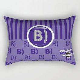 Indigo Writer's Mood Rectangular Pillow