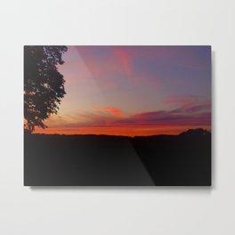 sunset hwy 13 Metal Print