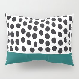 """Elegant Handpainted Polka Dots with """"Shaded Spruce"""", Fall, Autumn Color Pillow Sham"""