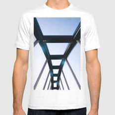 Blue Bridge MEDIUM White Mens Fitted Tee