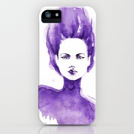 Purple Water Faery iPhone Case
