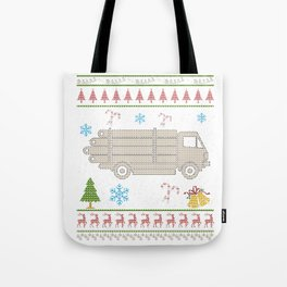 Logging Truck Christmas Ugly Shirt Logger Shirt Tote Bag