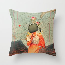 Antarctic Broadcast Throw Pillow