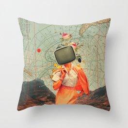 Antarctic Broadcast Throw Pillow