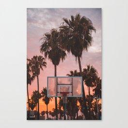 Venice Beach Sunset Ballin' Canvas Print