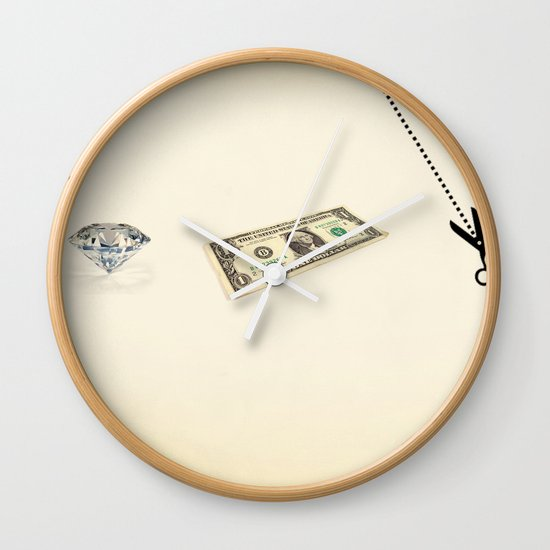 rock, paper, scissors Wall Clock