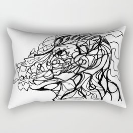 Dragon and human head Rectangular Pillow