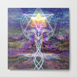 Merkabah Rainbow Metal Print