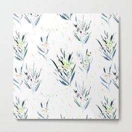 Dainty florals - watercolor flowers Metal Print