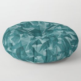 Abstract Geometrical Triangle Patterns 3 Benjamin Moore 2019 Trending Color Beau Green 2054-20 Floor Pillow