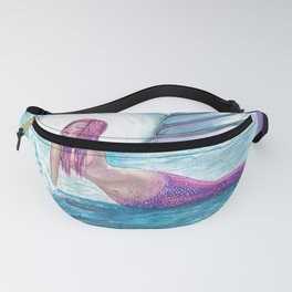 Andromeda Mermaid Fantasy Art by Laurie Leigh Fanny Pack