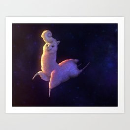 Space Alpaca Art Print