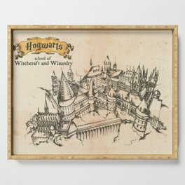 Potter school of witchcraft and wizardry HP sketch Serving Tray
