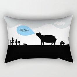 Monday in the wilderness Rectangular Pillow