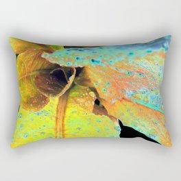 Neon Leaves Rectangular Pillow