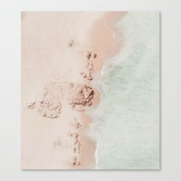 beach - pink champagne Canvas Print