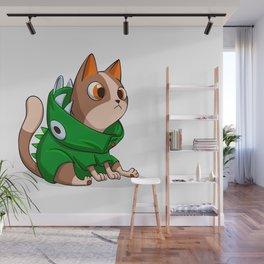 Cat dinosaur costume Wall Mural