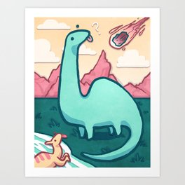The End of the Dinosaurs Art Print